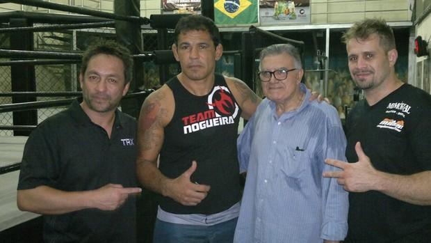 Yamazaki, Minotauro, Barretão e Fábio Maldonado (Foto: Reprodução SporTV)