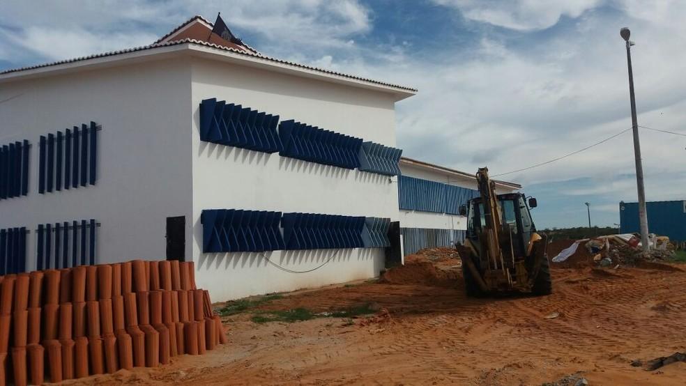 Obras feitas em Alcaçuz foram orçadas em R$ 3,2 milhões  (Foto: Cláudia Angélica/Inter TV Cabugi)