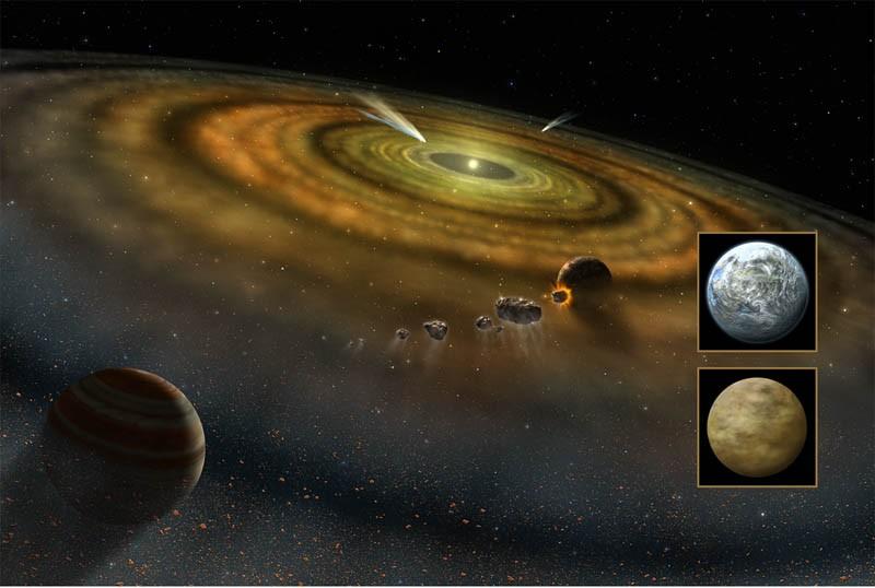 Primeiro exocometa foi identificado em 1987 na órbita da estrela Beta Pictoris (Foto: Nasa/BBC)