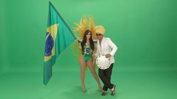 Marina Elali e Carlinhos Brown (Foto: Divulgação)