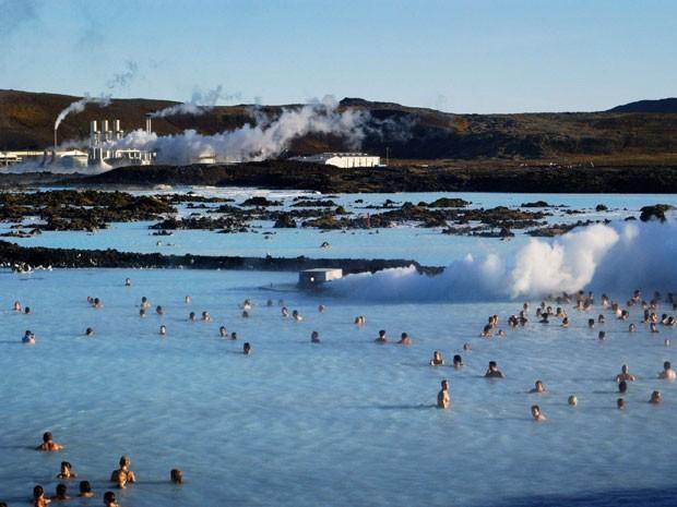 Blue lagoon (Lagoa Azul), na Islândia (Foto: Jim Dyson/Getty Images)
