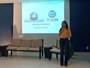 Neyara Pinheiro palestra sobre a rotina como repórter de rede da Clube