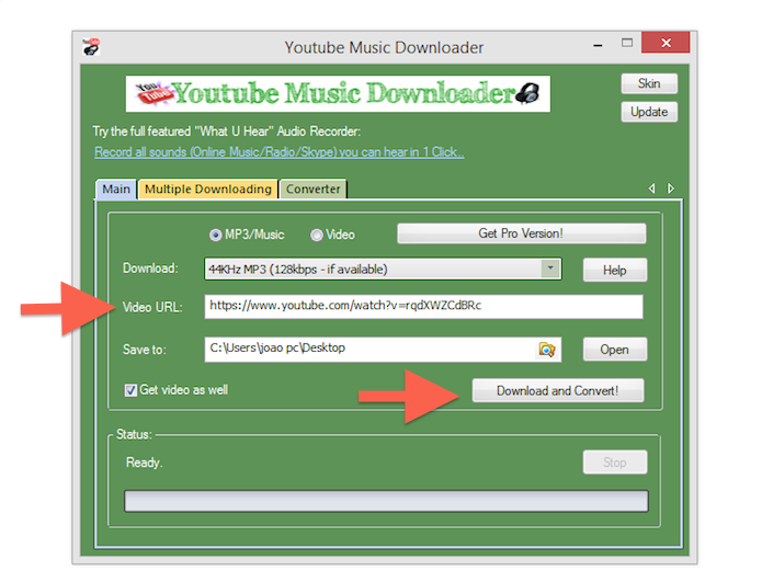 Interface do YouTube Music Downloader (Foto: Reprodução/Marvin Costa) (Foto: Interface do YouTube Music Downloader (Foto: Reprodução/Marvin Costa))