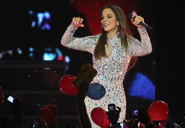 Cantora se diverte em estreia de turnê (Foto: Manuela Scarpa/Foto Rio News)