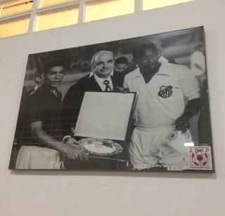 Foto de Pelé num dos corredores do Estádio Nacional de Lima, Peru (Foto: Leonardo Lourenço)