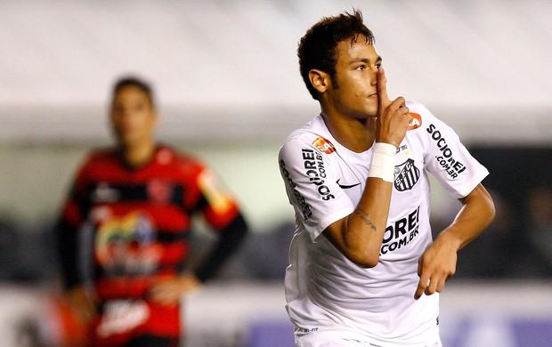 Neymar comemoração gol Santos Flamengo-PI (Foto: Ricardo Saibun / Ag. Estado)