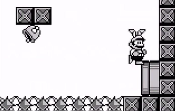 Mario utilizando orelhas de coelho para voar (Foto: Reprodução)