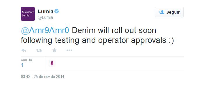 Lumia confirmou update em breve (Foto: Divulgação)