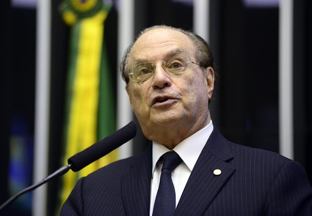 O deputado federal Paulo Maluf (PP-SP) em discurso na Câmara (Foto: Gustavo Lima/Agência Câmara)