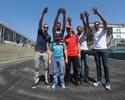 """Milhões em ouro: em Interlagos, atletas do vôlei """"treinam"""" com pilotos da Stock"""
