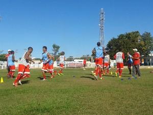 Palmas x Imperatriz - aquecimento (Foto: Vilma Nascimento/ GloboEsporte.com)