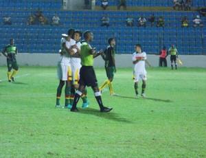 Sampaio vence o Cordino, por 6 a 0, no Nhozinho Santos, pelo Maranhense (Foto: Bruno Alves/Globoesporte.com)