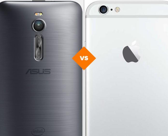 Zenfone 2 ou iPhone 6: veja qual smartphone se sai melhor em comparativo (Foto: Arte/TechTudo)
