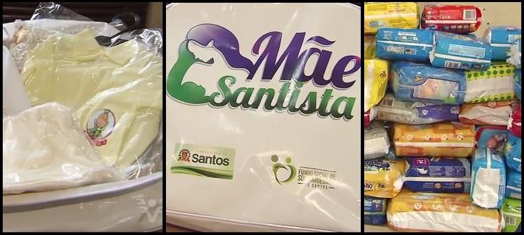 Kit do projeto 'Mãe Santista' (Foto: Reprodução/TV Tribuna)
