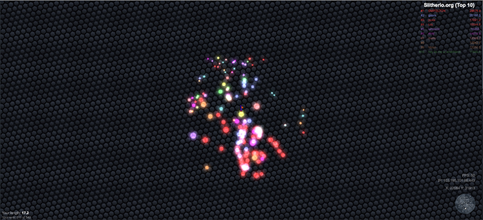 Aproveite a vantagem para conseguir muitos pontos em Slither.io (Foto: Reprodução/Murilo Molina)