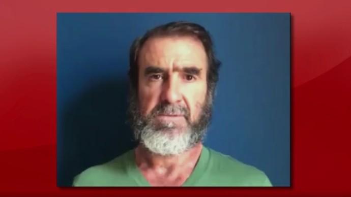 Cantona se solidariza com Manchester após atentado (Foto: reprodução SporTV)