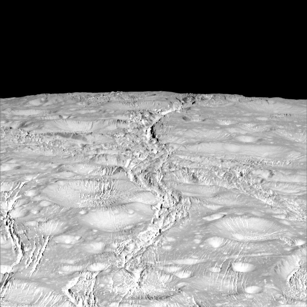A superfície de Encélado