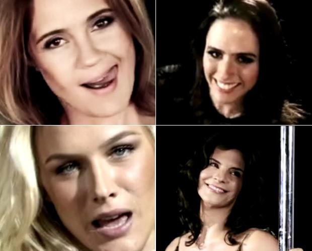 Famosas participam do clipe da cantora Ana Carolina (Foto: Mais Você / GShow)