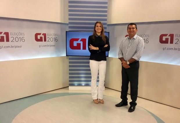Marcos Teixeira  e Jaqueliny Siqueira realizam as entrevistas especiais do G1 Piauí (Foto: TV Clube)