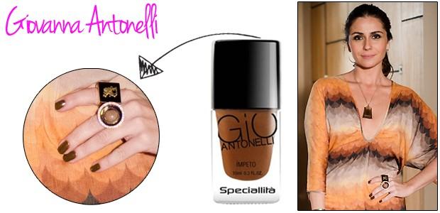 Heloisa (Giovanna Antonelli) usa o esmalte da própria coleção da atriz, Gio Emoções. A cor é Impeto (Foto: TV Globo e Divulgação)