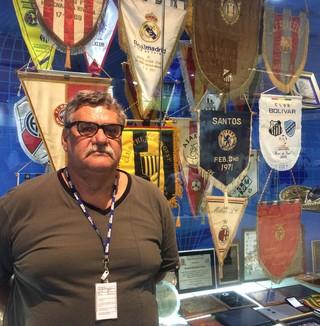 Guilherme Guarche, historiador do Santos (Foto: Leonardo Lourenço)