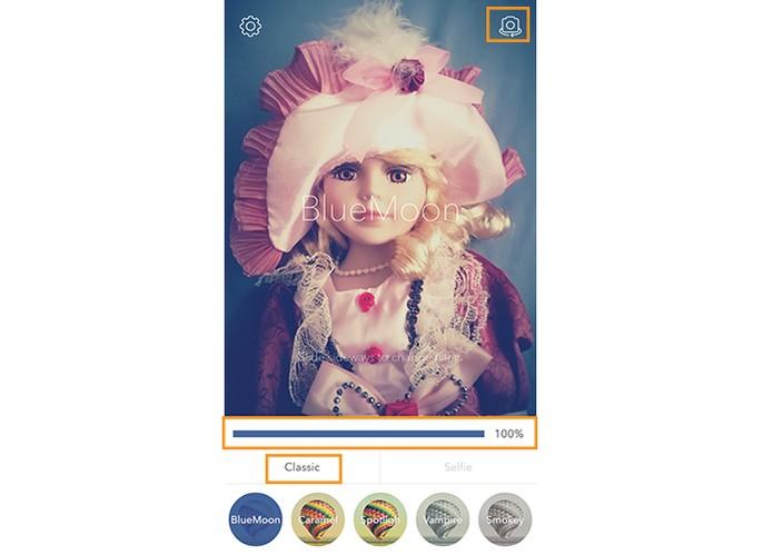 Também estão disponíveis diversos filtros gerais em classic (Foto: Reprodução/Barbara Mannara)