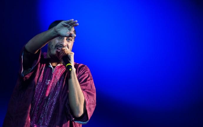 O rapper Criolo abriu a sequências de grandes nomes da música no palco principal do João Rock 2015 (Foto: Érico Andrade/G1)