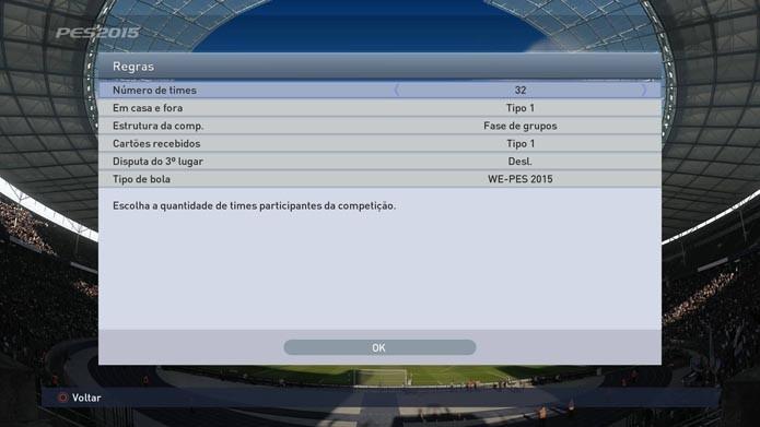 Configure o número de equipes (Foto: Reprodução/Murilo Molina)