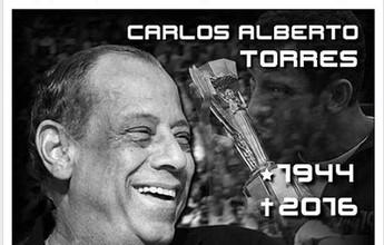 "Ex-XV, Carlos Alberto Torres tem homenagem: ""Grande esportista"""