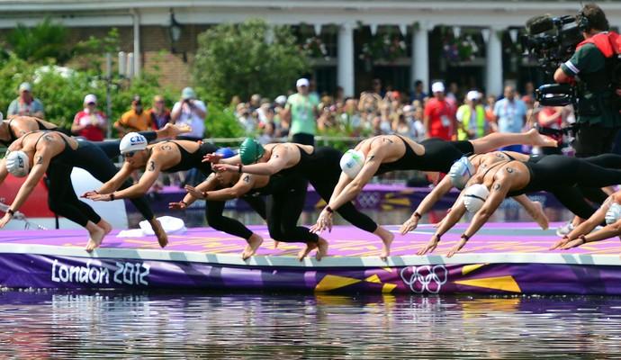 maratona aquática londres 2012 olimpiadas (Foto: AFP)
