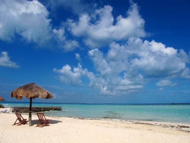 A parte mais a leste de North Beach, em Isla Mujeres, é boa para quem quer tranquilidade (Foto: Amanda Lee Myers/AP)