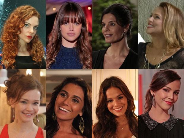 Veja o que vem colorindo os lábios das personagens de Em Família (Foto: Em Familia/TVGlobo)