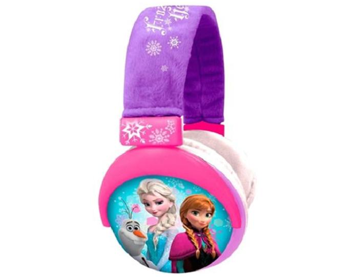 Heaphone da Frozen traz pelúcia na haste e tamanho ajustável (Foto: Divulgação/Multilaser )