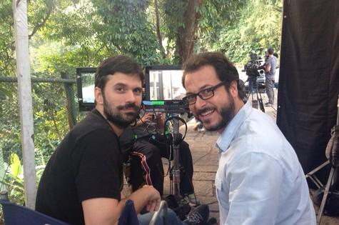O diretor Ian SBF e o ator Bruno Padilha (Foto: Divulgação)
