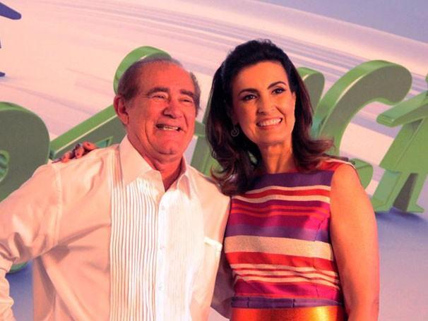 Renato Aragão participou ao vivo do Encontro com Fátima Bernardes (Foto: Globo/Thiago Ferra)