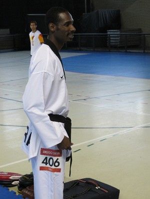 Diogo Silva taekwondo sesc santos (Foto: Bruno Gutierrez / Globoesporte.com)