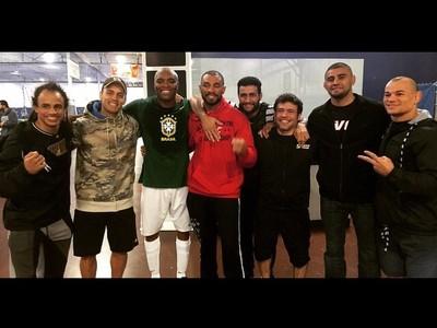 Anderson treina com Tibau, Jucão e Dhiego Lima em LA (Foto: Reprodução/Instagram)