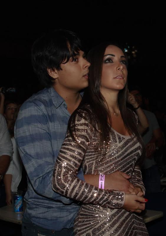 Igor, filho de Zezé, com a namorada (Foto: Cláudio Augusto/Photo Rio News)