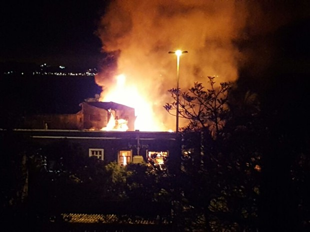 Incêndio, restaurante, Mestre Parrillero, Zona Sul, Porto Alegre (Foto: Tomás Saraiva/Arquivo pessoal)