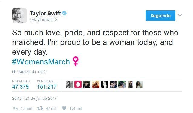 Taylor Swift no Twitter (Foto: Reprodução)