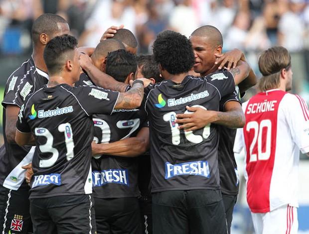 gol Vasco x Ajax (Foto: Marcelo Sadio / Site Oficial do vasco)