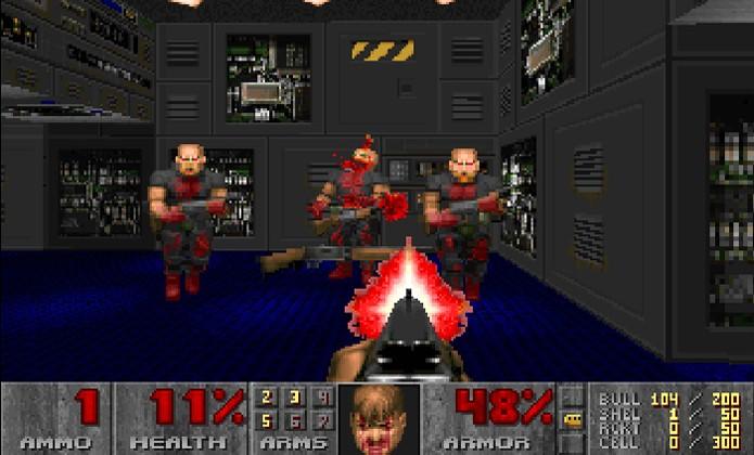 Os soldados que você enfrenta em Doom são na verdade seus companheiros de esquadrão possuídos (Foto: mtbs3d.com)