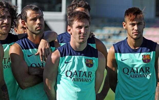 Neymar Messi treino Barcelona (Foto: MIguel Ruiz / FC Barcelona)