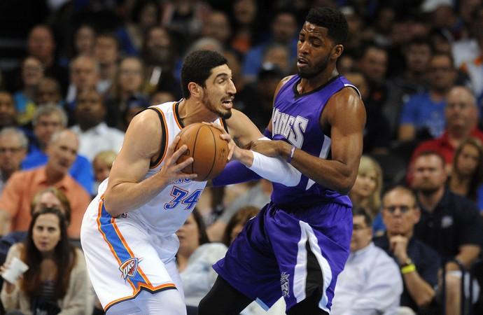 Enes Kanter Thunder x Kings NBA (Foto: Reuters)