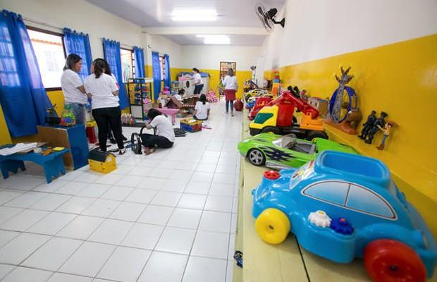 Funcionários do Itaú reformaram brinquedoteca (Foto: Estadão Conteúdo)