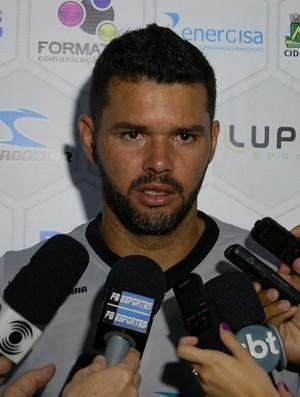 Gilson, goleiro do Treze (Foto: Silas Batista / GloboEsporte.com)