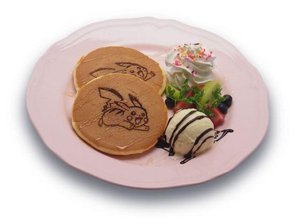 Até panquecas com sorvete têm imagem de Pikachu no restaurante temático (Foto: Divulgação/Pikachu Cafe)