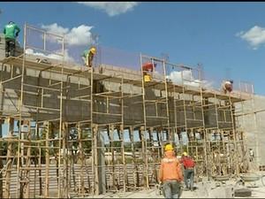 Tempo seco favorece a construção civil em Araguaína (Foto: Reprodução/TV Anhanguera)