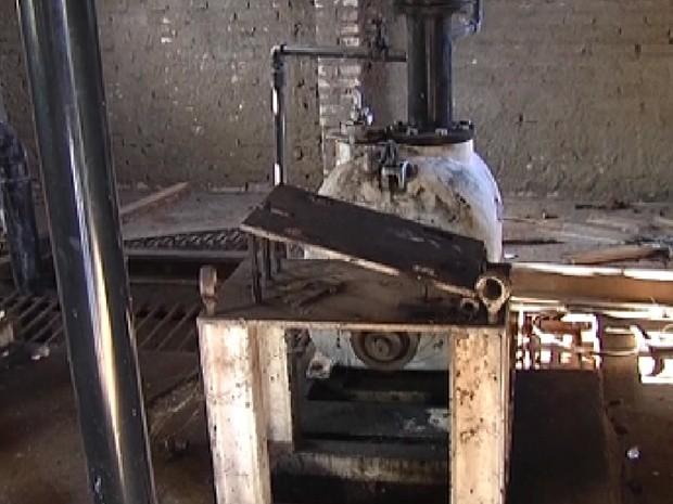 Estação Elevatória de Esgoto de Araçatuba está abandonada (Foto: Reprodução / TV Tem)