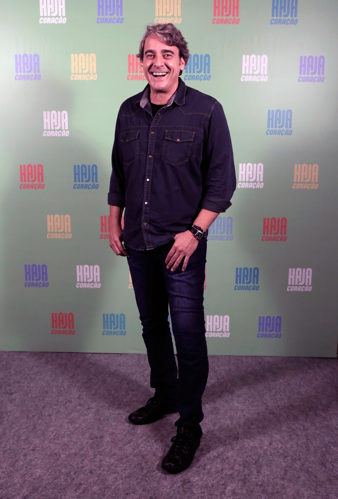 Alexandre Borges: total jeans (Foto: Ellen Soares / Gshow)